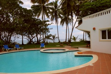 Magnificent Beach Front Villa For Rent - Cabarete Beach Rentals