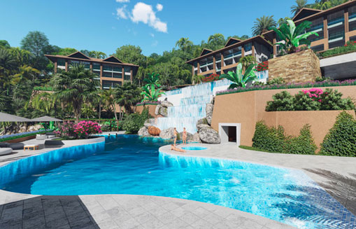 #10 New Oceanfront Condo Hotel located in Samana