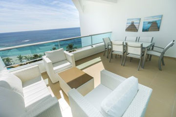 Luxury Beachfront Penthouse for Rent in Juan Dolio