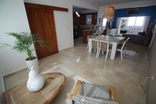 #1 Truly 3 bedroom duplex penthouse steps from Cabarete beach